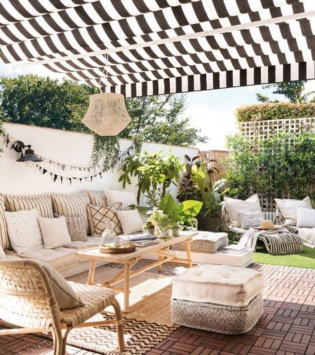 La Terraza De Una Famosa Influencer Con Muebles De Ikea