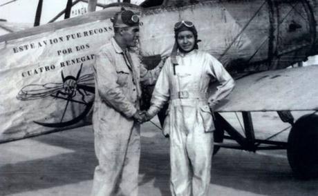 María Marcos Cedillo, la primer piloto mexicana y orgullosamente potosina