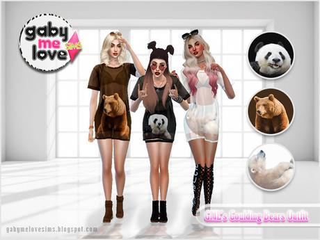 GML's Goulding Bears Outfit (Sims 4)