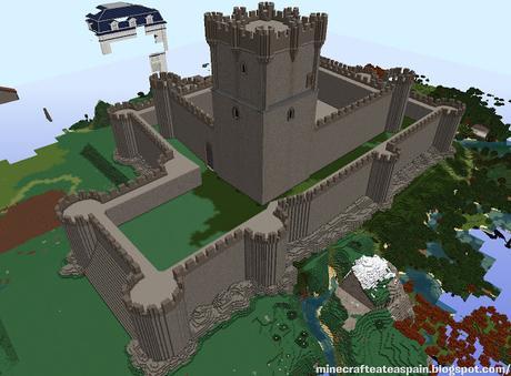 Réplica Minecraft del Castillo de la Atalaya, Villena, Alicante, España.