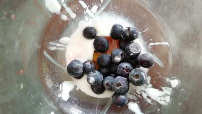 Helados de yogurt y frutos del bosque