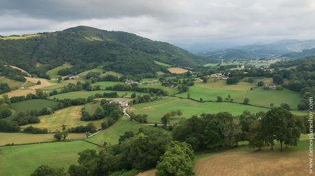 Foto dron pirineo francés Barcus paisaje viaje