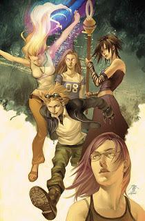 Imagen del comic Runaway, de Marvel, en el que unos mutantes jóvenes posan.