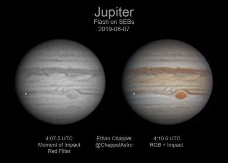 Un gran objeto impactó Júpiter