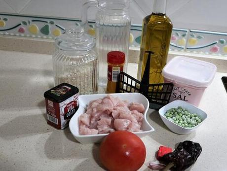 Qué ingredientes necesito para hacer arroz con pavo en Mambo