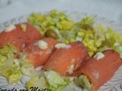 Rollitos salmón ahumado rellenos