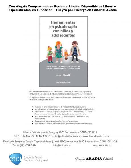 «Herramientas en psicoterapia con niños y adolescentes» Nuevo libro de Javier Mandil