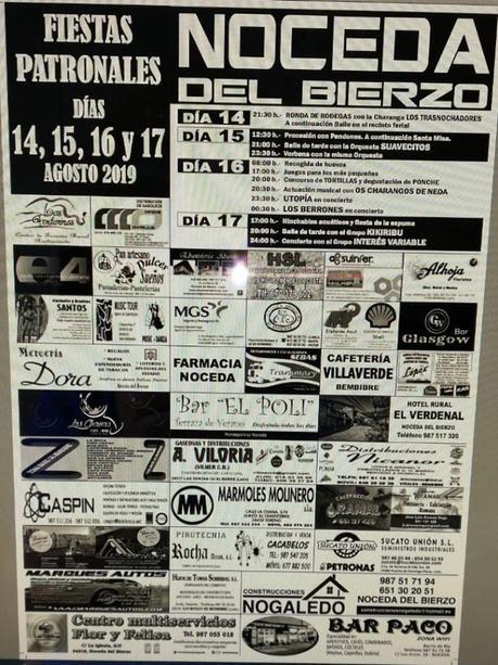 Fiestas patronales en Noceda del Bierzo. 14 al 17 de agosto 2019