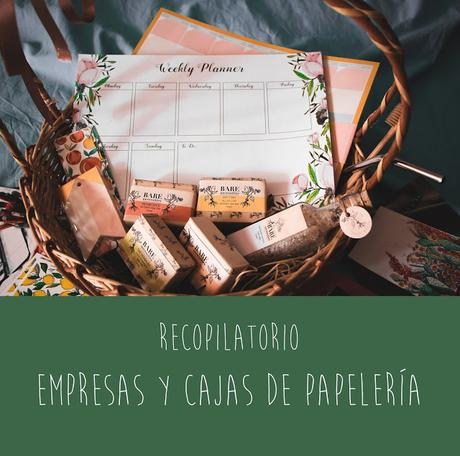 Recopilatorio: Empresas y Cajas de Papelería