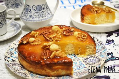 Melòpita con naranja y canela (tarta de queso griega de requesón y miel)