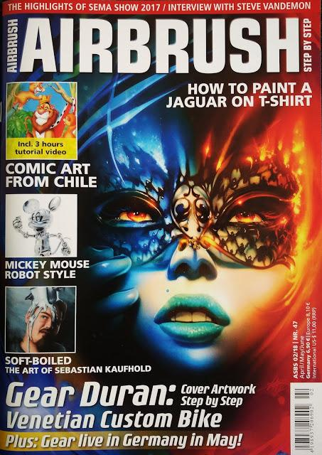 ACTION ART EUROPE Y STEP BY STEP AIRBRUSH MAGAZINE