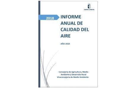 Informe sobre la Calidad del Aire en Castilla-La Mancha durante 2018