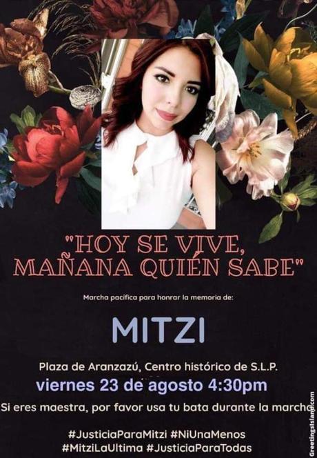 Marcharán en memoria de la maestra Mitzi