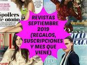 Revistas Septiembre 2019 (Regalos, Suscripciones viene)
