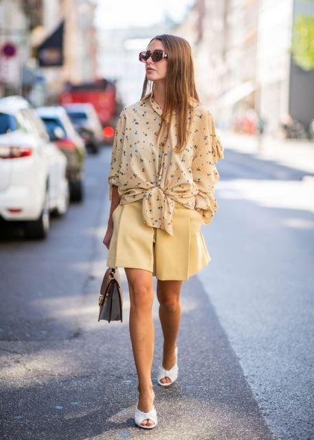 shorts 2019 yellow