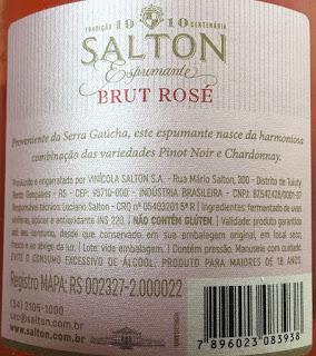 Salton Espumoso Rosado Brut, de Vinícola Salton de Brasil