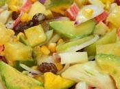 Receta fácil ensalada tropical salsa fría miel mostaza