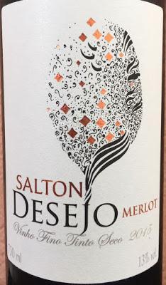 Salton Desejo Tinto Merlot Crianza 2015, de Vinícola Salton de Brasil