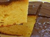 Receta bizcocho esponjoso naranja cobertura chocolate