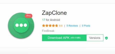 Whatsapp en 2 moviles android con ZapClone
