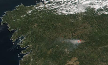 Incendio forestal en Monforte (05/09/2019)