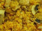 Cómo hacer delicioso arroz secreto ibérico champiñones