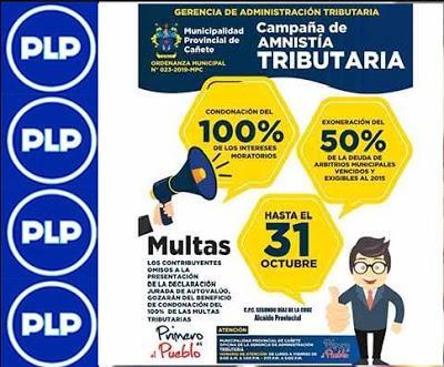 CAMPAÑA DE AMNISTÍA TRIBUTARIA 2019 EN LA MPC