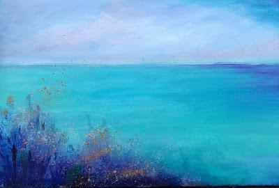 Playa azul.