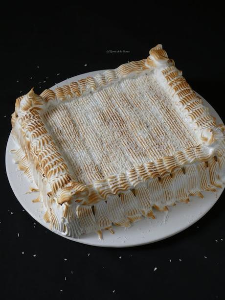 Tarta de Galletas Coco y Merengue