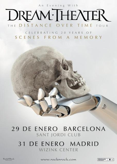 Conciertos de Dream Theater en Sant Jordi Club y WiZink Center en enero de 2020