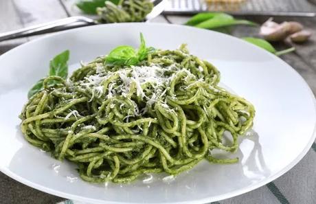 Receta de Tallarines Verdes - Tallarines al Pesto