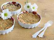 Crumble Fresas Almendras Saludable