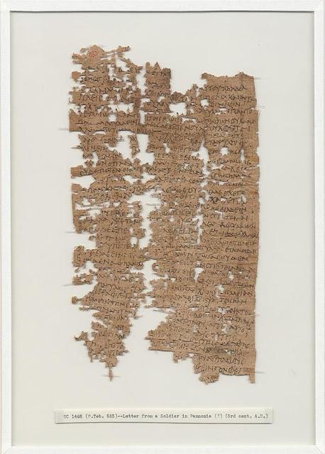 Carta auténtica de un soldado romano |