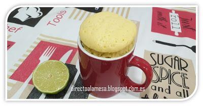 Mug cake de limón