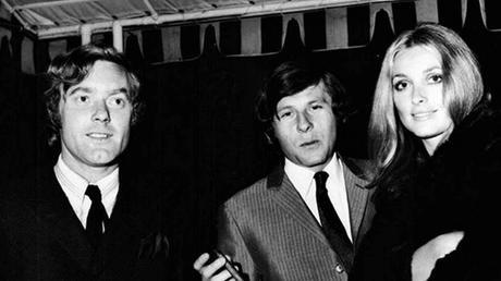 El músico Krzysztof Komeda junto a Roman Polanski y Sharon Tate, actriz que se convirtió en pareja del realizador después del rodaje de