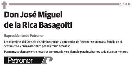 José Miguel de la Rica Basagoiti