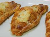 Receta curasanes rellenos jamón cocido queso gratinados