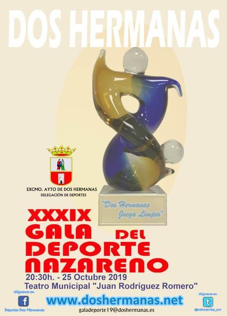 Abierto el plazo para presentar propuestas para la XXXIX Gala del Deporte Nazareno