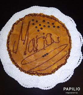Tarta de galletas Tostarica con dulce de leche