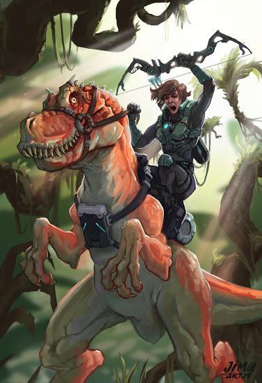 Unas cuantas ilustraciones dinosaurianas... (XXXIX)