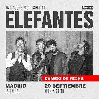 Concierto en Madrid de Elefantes (20-09-2019)