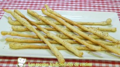 Cómo hacer palitos de pan con sésamo muy crujientes, sabroso y fáciles