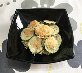 Chips de calabacín con queso en microondas