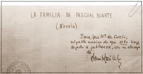 El manuscrito de Cela