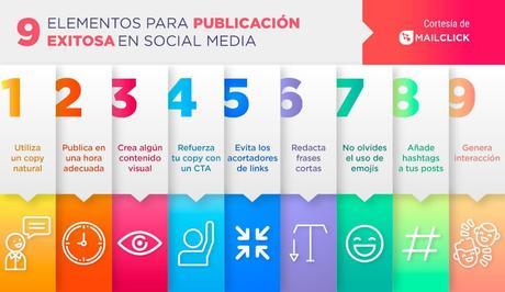9 elementos para una publicación exitosa en social media