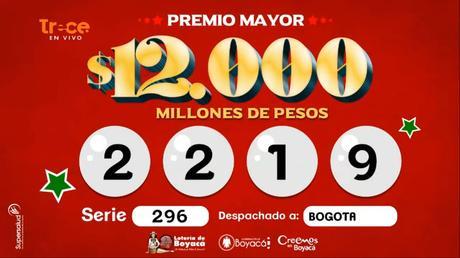 Loteria de Boyaca 21 de septiembre 2019