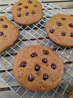 Cookies de calabaza y chocolate