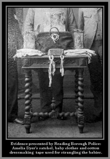 Pruebas, evidencias, juicio, Amelia Dyer, serial Killer, Inglaterra, asesina, bebés