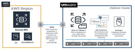 aws rds en VMware