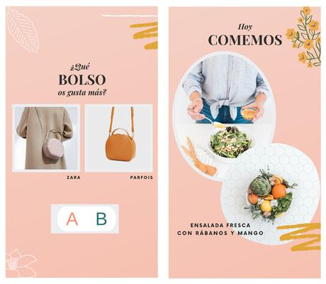 4 plantillas editables con Canva para Instagram Stories